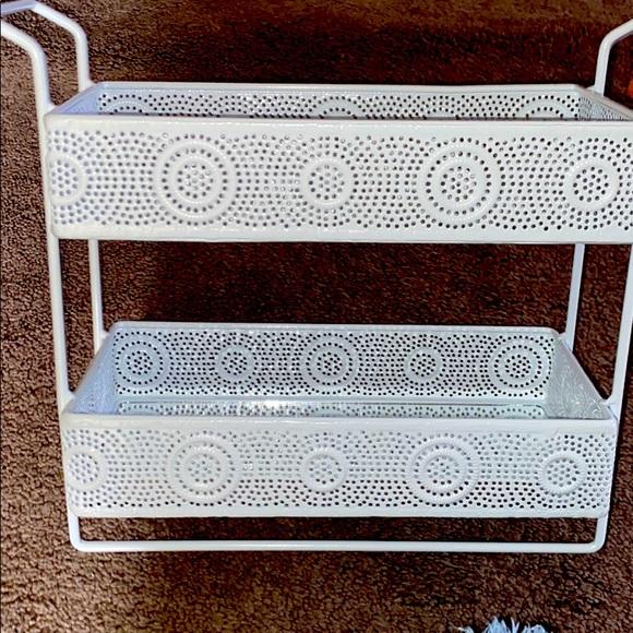 2 deck storage decor rack.